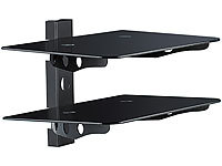 "dream audio 2-fach Universal-HiFi & DVD-Rack ""HR-440-Duo"" Schwarzglas"